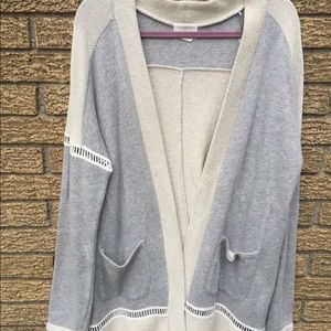 Caslon cardigan off white and gray